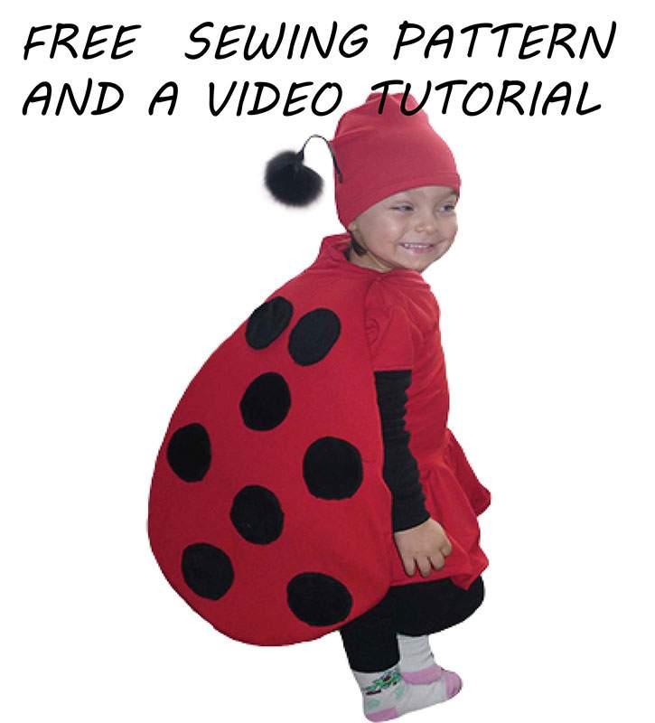 Diy ladybug costume for halloween with a free pattern sewing for diy ladybug costume for halloween with a free pattern sewing for a living solutioingenieria Choice Image