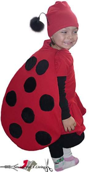 Diy ladybug costume for halloween with a free pattern sewing for diy ladybug costume solutioingenieria Choice Image