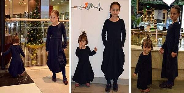 girls dress pattern testing